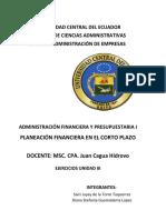 ADMIFIN-LAE7-003 TRAB 6 – EJERCICIO UNIDAD III - GRUPO F 1