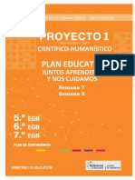 PROYECTO CIENTÍFICO-HUMANÍSTICO 1 BÁSICA MEDIA 2021-2022.
