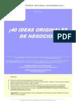 Mlm Emprendedores 40 Ideas Origin Ales de Negocios 2011