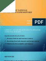 Financing in National Gov't