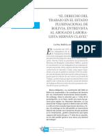 Derecho laboral Bolivia
