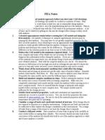 FEA Notes