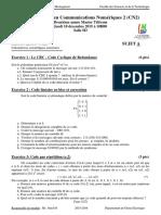 Enoncé et Corrigé Type Test  1 CN 2  Variante A et B du 10 décembre 2015