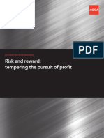 ACCA paper on risk and reward