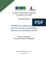 Medidas de Acalmia de Tràfego Em Áreas Urbanas Consolidadas