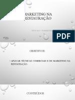 UFCD 4421 - Marketing na restauração