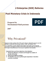 State-Owned Enterprise (SOE) Reforms
