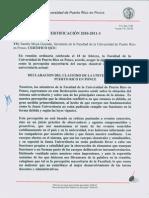 Declaración Facultad UPR-Ponce