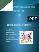 Badminton - Barbu Florescu Flavia Giorgiana