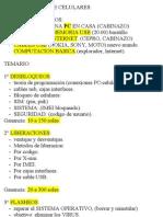 PROGRAMACION DE CELULARES