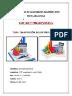Mapa Conceptual de La Clasificación de Los Presupuestos_Josselin Solano
