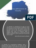 1- Identifica Algunas Definiciones de Filosofía