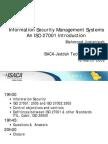 ISACA ISO 27K Presentation