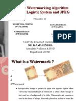 Fragile Watermarking Algorithm by Sushrutha and Vikram