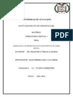 Radiología y Su Importancia en El Diagnóstico de Caries Dental