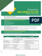 Información sobre la Gripe AH1N1 Influenza