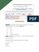 Resolução de problemas = Cálculo Diferencial e Integral I