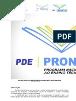 Estrutura do Relatorio do PI e Ficha de Avaliação (TCC)