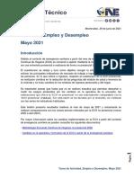 ECH Empleo Mayo 2021