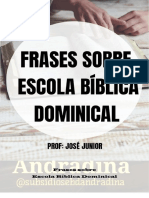 Frases sobre Escola Bíblica Dominical