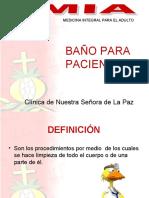 BAÑO PACIENTES