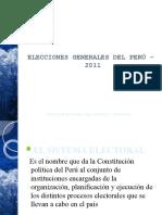 DIAPO_ELECCIONES GENERALES DEL PERÚ -  2011