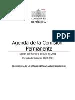 Agenda de la Comisión Permanente el martes 6 de julio