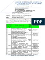 INFORME N° 003 - INFOBRAS  REMITO ACTUALIZACION DE OBRAS