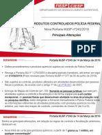 Produtos Controlados- Principais Alterações