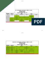 Horarios Contabilidad y Auditoría- Campus El Girón