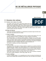 NOTIONS DE MÉTALLURGIE PHYSIQUE