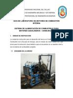 4. SISTEMA DE ALIMENTACIÓN DE COMBUSTIBLE PARA MOTORES GASOLINEROS - CARBURADOR