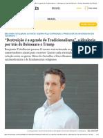 """Benjamin Teitelbaum_ """"Destruição é a Agenda Do Tradicionalismo"""", A Ideologia Por Trás de Bolsonaro e Trump _ Atualidade"""