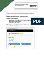 Instalación VPN FortiClient - Usuario