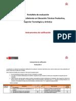 Instrumento de calificación para el Portafolio