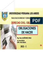 CLASE Nº04-Obligaciones de Hacer