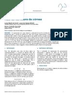 Relatório 6 - Raio de curvatura da córnea