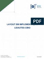 Layout em implementacao - Leiautes CBIO