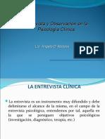 ENTREVISTA Y OBSERVACION PSICOLOGICA