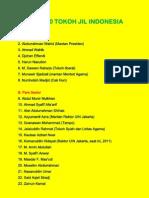 Daftar 50 Tokoh Jil Indonesia
