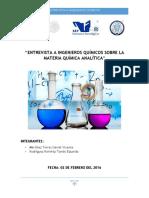 Entrevista a Ingenieros Químicos - Química Analítica