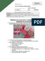 6to PRIM-PERSONAL SOCIAL- Medidas de prevención o mitigigación de desastres en la escuela 31-08