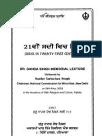 21st sadi vich Sikhs - Tarlochan Singh Tract No. 519