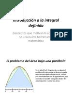 Introducción a la integral definida