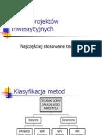 FinLub2011 25 metody oceny efektywności inwestycji