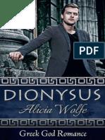 Dionysus Greek God Romance Boo - Alicia Wolfe