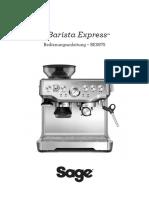 Sage Barista Express pdf