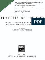 3. Igino Petrone - Filosofia Del Diritto - Con L'Aggiunta Di Vari Saggi Su Etica, Diritto e Sociologia
