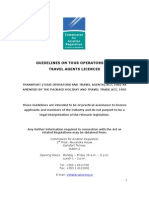 Guidelines on Tour Operators and Travel Agents Licences