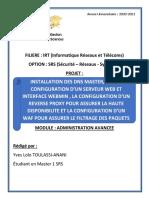 Projet Administration Avancée Sous Unix_YvesLoloTOULASSI